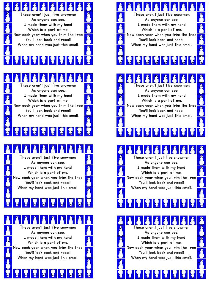 Universal image intended for handprint poem printable