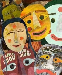 Νηπιαγωγείο Ν.Ποτίδαιας: Πίνακες ζωγραφικής με θέμα την αποκριά.