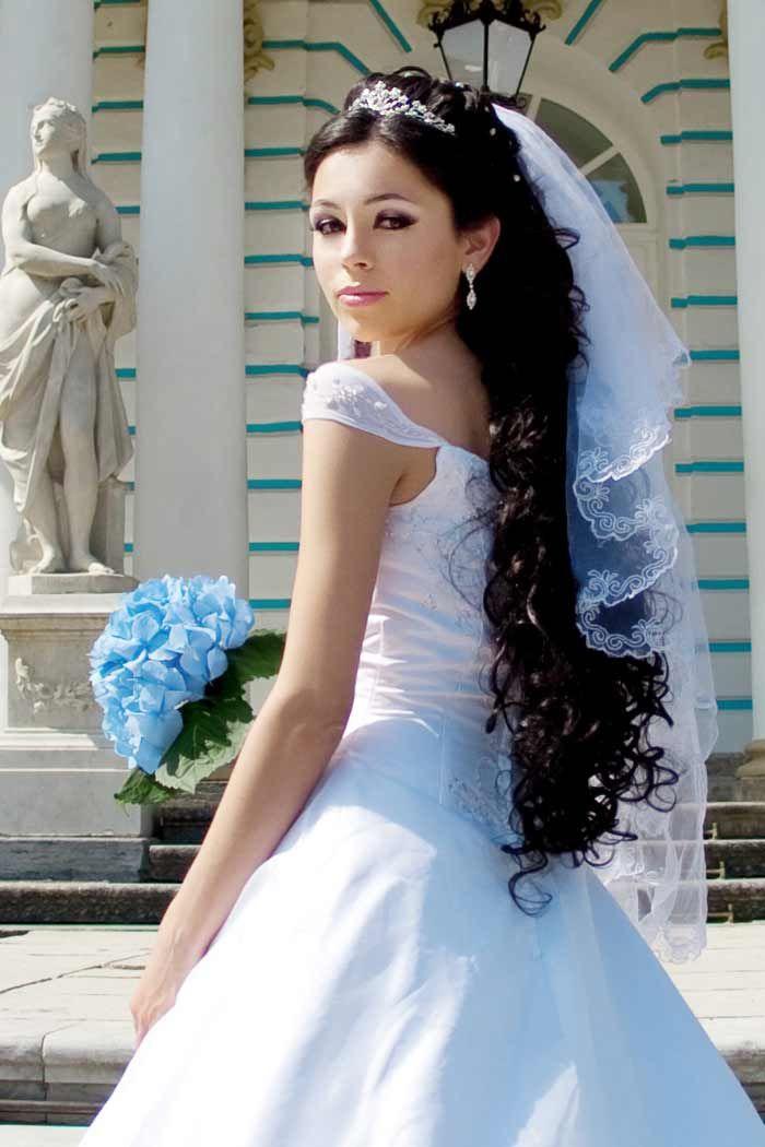 Brautschmuck haare mit schleier  Die besten 25+ Hochzeitsfrisur lange haare mit schleier Ideen auf ...