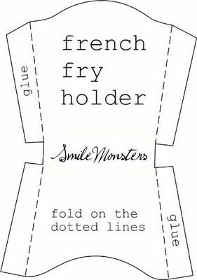Free template: french fry holder (instead of french fries, use Kettle chips)