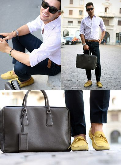 classic italian guy style.. not always with the bag, but pretty close. miss seeing well-dressed guys all the time!