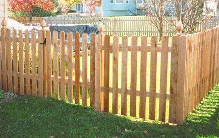 Backyard Fence Ideas Dog Ear Picket Fence Doors