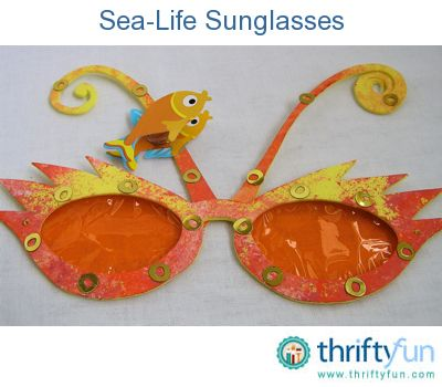 sea-life sunglasses. Not only is it a fun activity to do, you'll end up with a really cool accessory to wear on holiday or at a beach party.