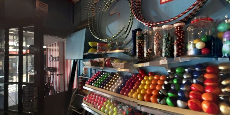 360 image of our shop. come for a walk inside. #circusshop