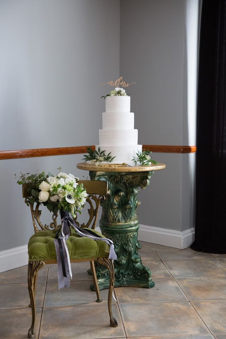 Stunning White Wedding Cake