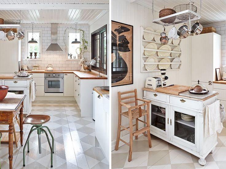 [Interior] Elegancia en blanco brillante, femenino y toques vintage (via Bloglovin.com )