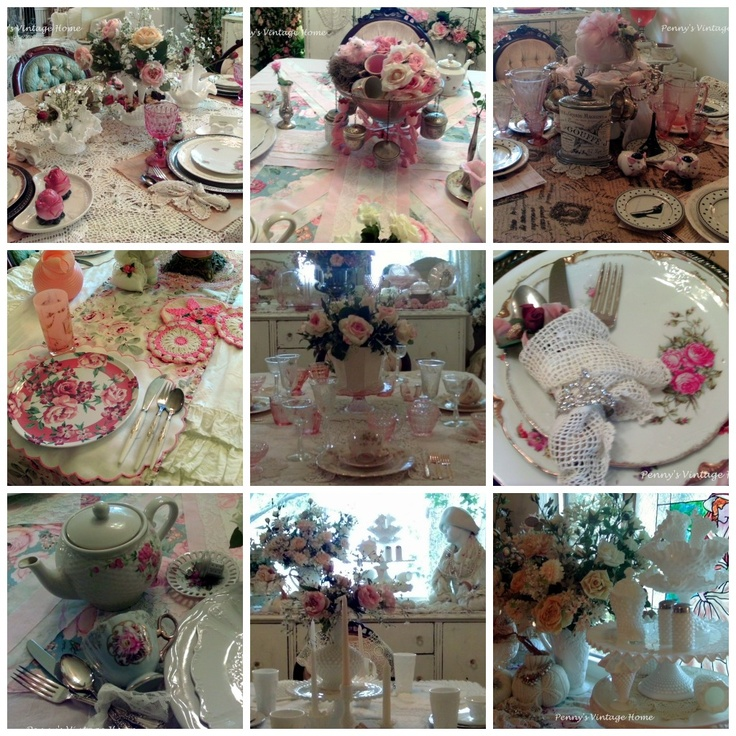This Was My Most Viewed Tablescape Of Pink Pumpkins For The Cure. The Ruffled  Tablecloth Was Assembled With Vintage Ruffled Curta.