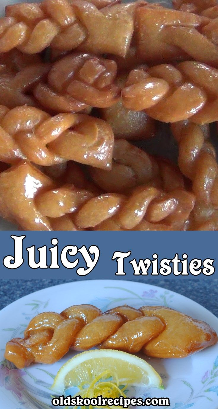 Juicy Twisties Koeksisters Recipe - Old Skool Recipes  Juicy Twisties Recipe (Koeksisters)  These Juicy Twisties are simply mouth watering.  From the first crunchy bite the sweet syrup liquid just oozes from the Juicy Twistie.  They are so yum that one is just not enough and can be kept in the fridge for a good few days.  This dish is lovely for when you  are having a nice warm cup of coffee or tea.