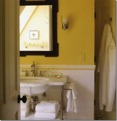 Still Like Yellow Walls In Bathrooms