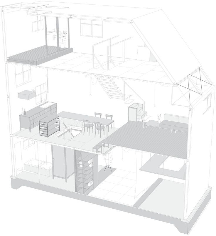 Itami House by Tato Architects, 3-D drawing | Remodelista