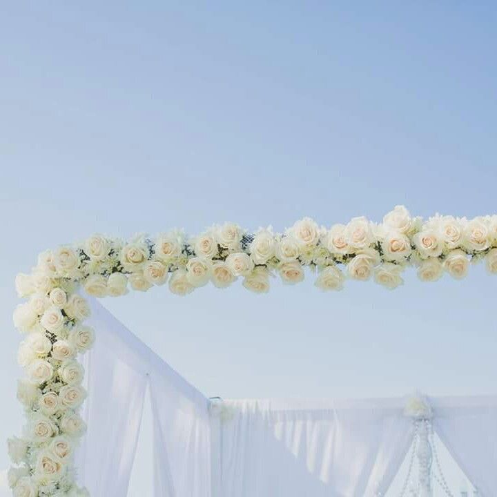 Fresh Floral Wedding Arbour With Gorgeous Oversize Vendella Roses By Brisbane Decorators Www