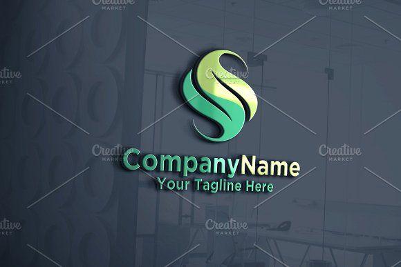 9c2c3f007053 S Logo | Leaf | Logo Template by REDVY CREATIVE on @creativemarket ...