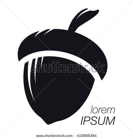 Acorn Logo. Silhouette Acorn. Template Logo Company. Company Logo Design