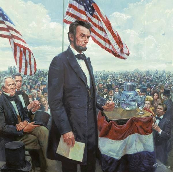 """The Gettysburg Address is a speech by U.S. President Abraham #Lincoln, one of the best-known in American #history. It was delivered by Lincoln during the American #Civil #War, on the afternoon of Thursday, November 19, 1863, at the dedication of the Sold"