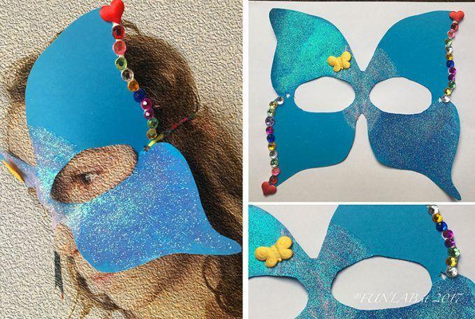 Maschere Carnevale Fai Da Te: farfalla e simmetria - FunLab Blog