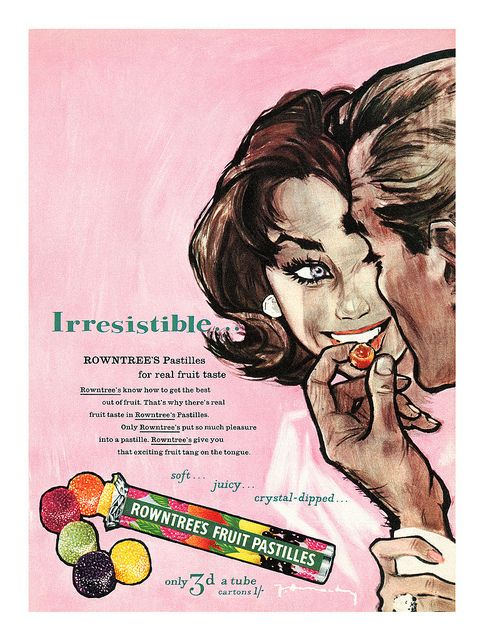 1959 Rowntree's Fruit Pastilles ad