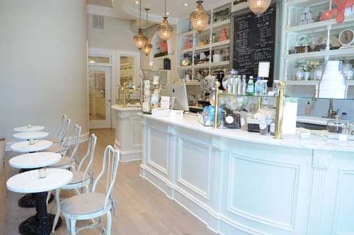 Engagement Photo Local Choice! Cacao Atlanta Chocolate Co.'s Buckhead location brings Parisian flair to doll house-like levels: a white marble bar displays delicious concoctions and cafe tables are the perfect place