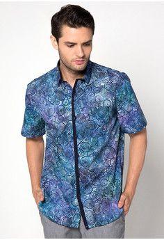 pulaubatik.com batik pria murah model terbaru motif cap abstrak