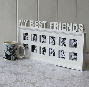 my best friends photo frame only the top row would have pictures though