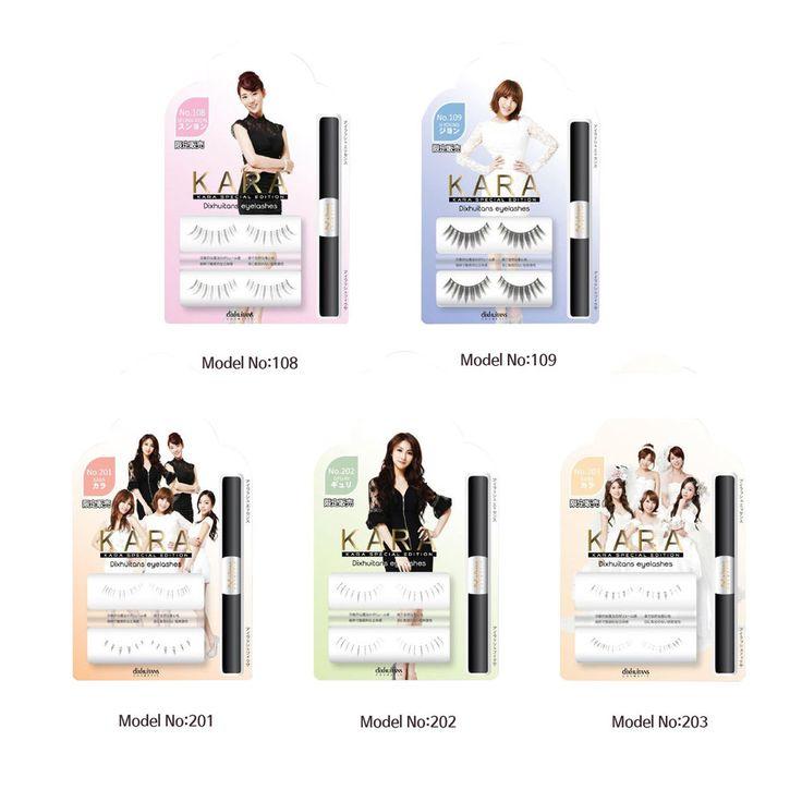 5PCS Kara Special Edition Mascara False Eyelashes Kit Natural Long Extension  #Dixhuitans