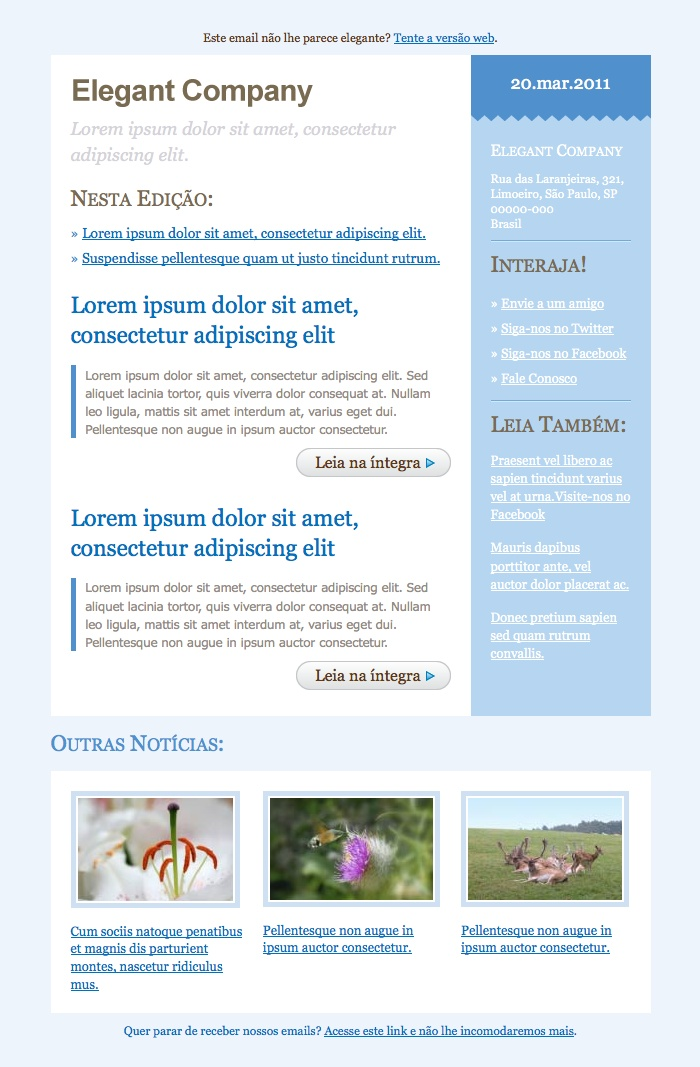 Best Templates De Email Marketing Da Templateria Images On