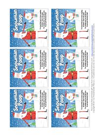 """Snowman Poop Gift Tags - Santa Snowman Poop Recipe To make Snowman Poop, place a handful of mini-marshmallows in a small zipper food storage bag or decorated cellophane treat bag, then attach a gift tag with the Snowman Poup poem. Choose a free printable Snowman Poop gift tag, or hand-write a tag using the Snowman Poop poem below. Snowman Poop Poem I hear that you've been naughty,  So listen, here's the scoop... I'm running short on coal this year,  So you get """"Snowman Poop"""" Love, Santa"""