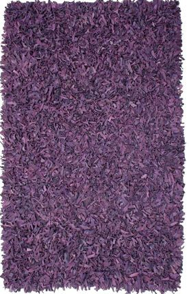 st croix trading pelle leather shag ll02 purple rug