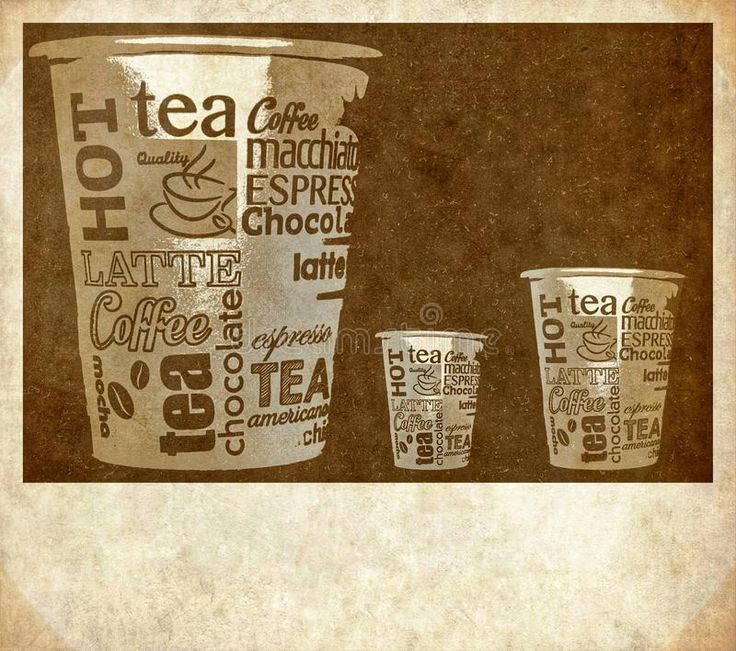 Download Coffee poster stock illustration. Image of aroma, drink - 104210604