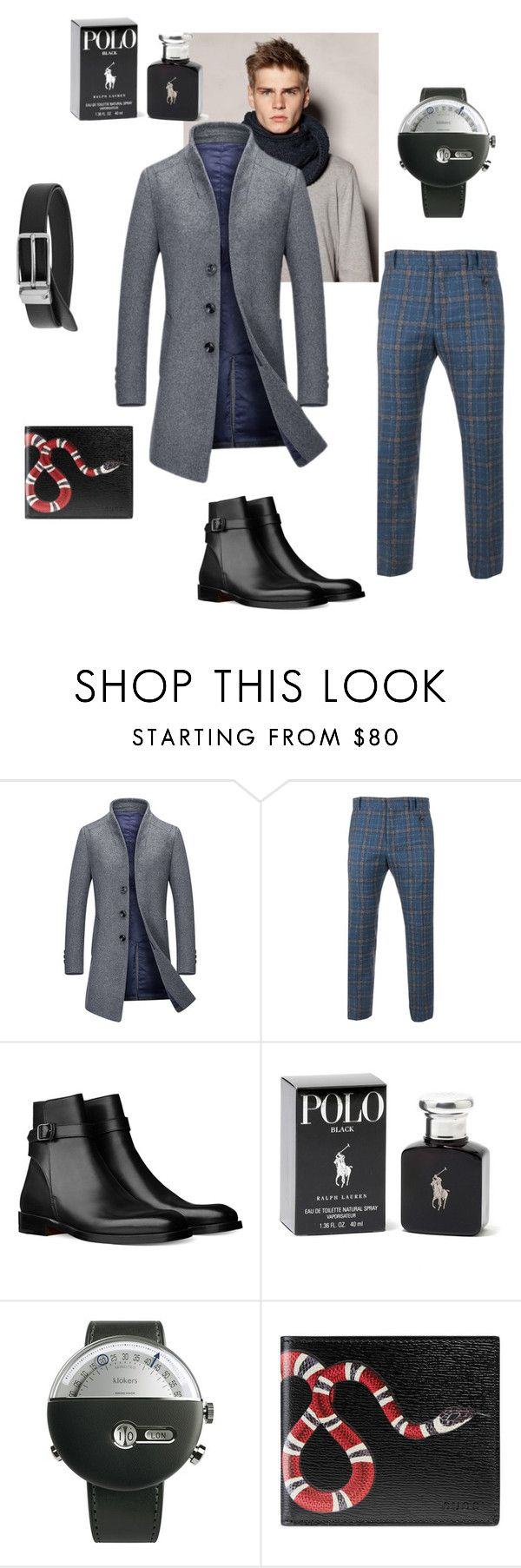 menlook by malishevan on Polyvore featuring Vivienne Westwood Man, Klokers, Gucci, MANGO, Ralph Lauren, men's fashion and menswear