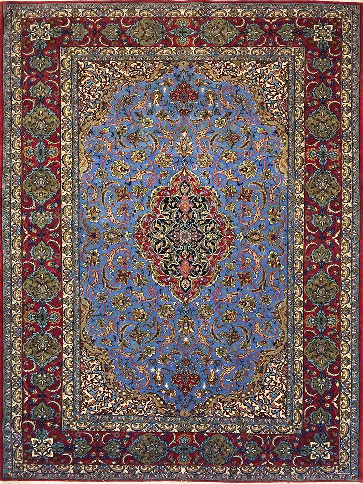 tappeto persiano isfahan extra fine lana kurk e seta