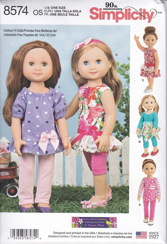 """Doll Clothes fits American Girl 14/"""" Wellie Wisher Pink T-Shirt"""