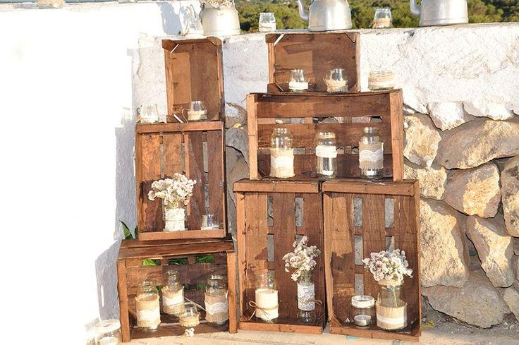 153 mejores im genes sobre decoracion en pinterest mesas - Cajas de fruta de madera para decorar ...