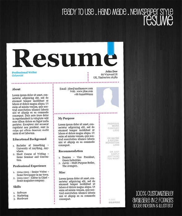 free resume template newspaper style by oldwerksdeviantartcom on deviantart