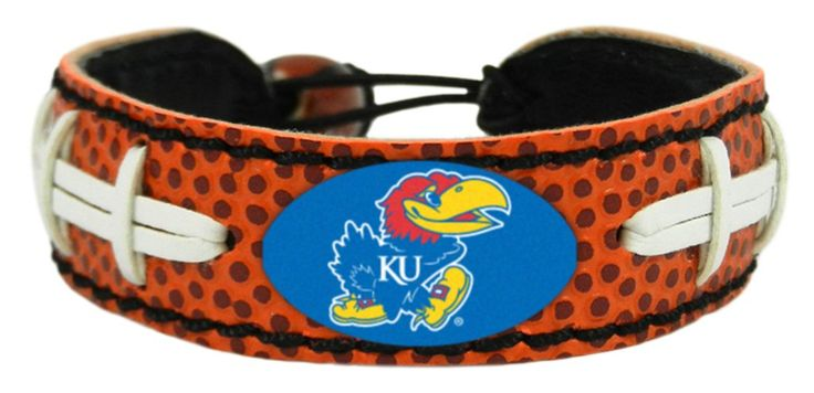 Kansas Jayhawks Classic Football Bracelet