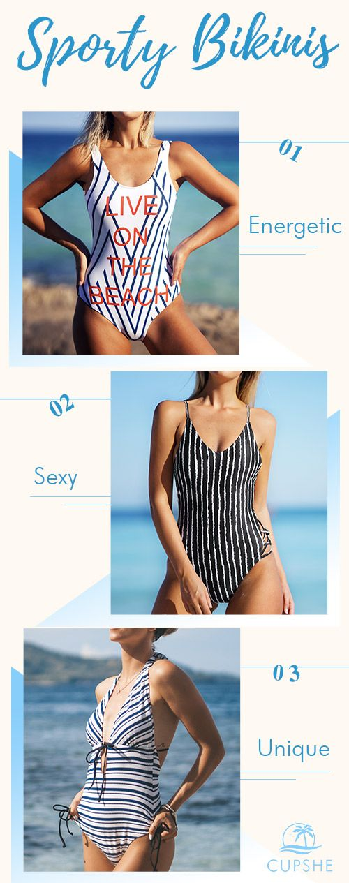 Move in style wearing sporty bikini tops from Cupshe. Sporty bikinis are made for those who move in the water. Find the perfect bikini and tankini to take with you on holiday!