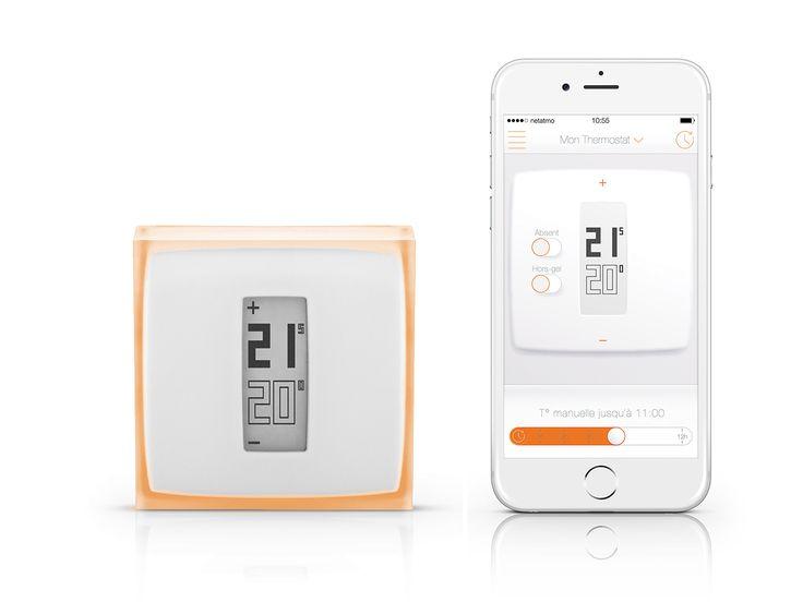 A l'aide de votre Thermostat Netatmo, vous pouvez modifier la température de votre maison depuis votre lit ou depuis le bout du monde.
