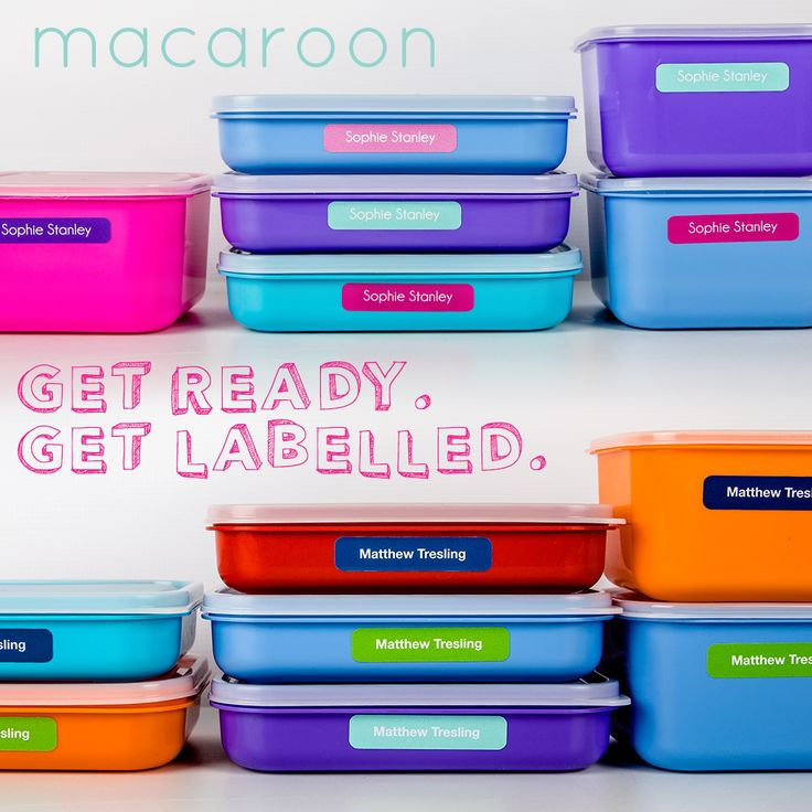 Order online www.macaroon.co.za. Vinyl name labels that don't come off