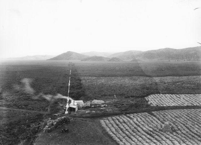 Flax mill, Whakaki Flax mill, Whakaki. Williams, Edgar Richard, 1891-1983 :Negatives, lantern slides, stereographs, colour transparencies, monochrome prints, photographic ephemera. Ref: PAColl-7985-39. Alexander Turnbull Library, Wellington, New Zealand. http://natlib.govt.nz/records/22773382