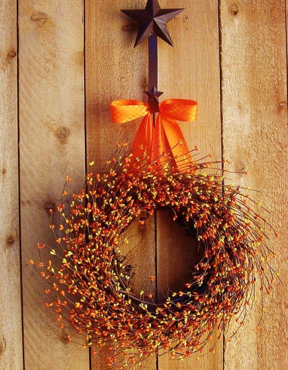 Summer WreathDoor WreathJUICY ORANGE Berry by DesigningCreations, $59.00