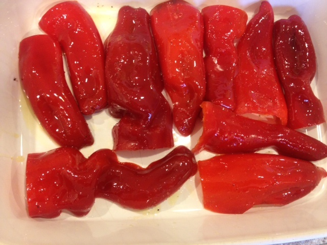 Roasted Red Peppers with Herbed Bread Crumbs