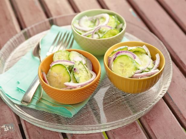 Get Creamy Cucumber Salad Recipe from Food Network