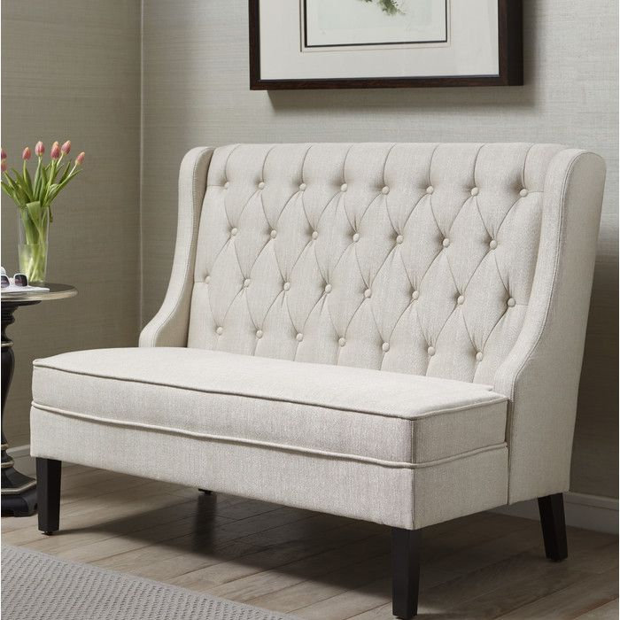 "Banquette 52"" Tufted Settee & Reviews 