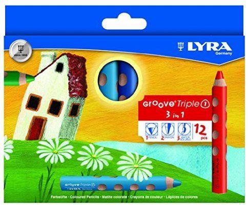 LYRA Groove Triple I Kartonetui mit 12 Farbstiften, Sortiert Spitzer und ein Stoffetui wäre super dazu.