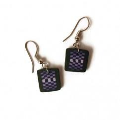 Kare Mor Küpe  - #tasarim #tarz #mor #rengi #moda #hediye #ozel #nishmoda #purple #colored #design #designer #fashion #trend #gift