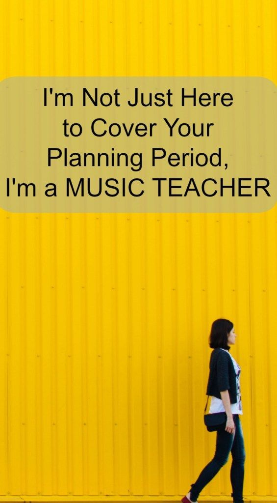 Music teacher. You matter. Music is important.