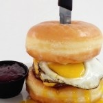 The Donut Burger – Beef, Cheese and Sunny Side Up Egg Nestled ...