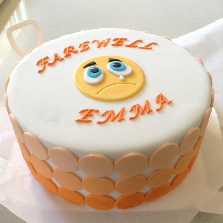 Going Away Cake Decorating Ideas