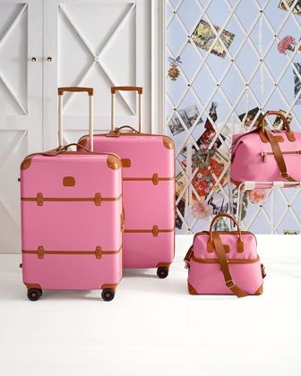 Love these but I don't think I could ever trust the airline with them. Bellagio #pink luggage collection http://rstyle.me/n/gi6d9r9te