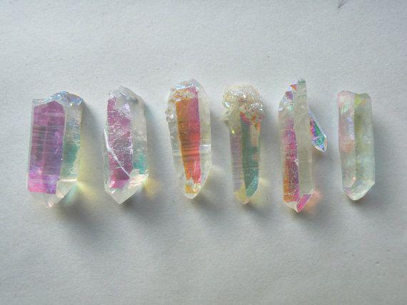 One Opal Aura Quartz Point