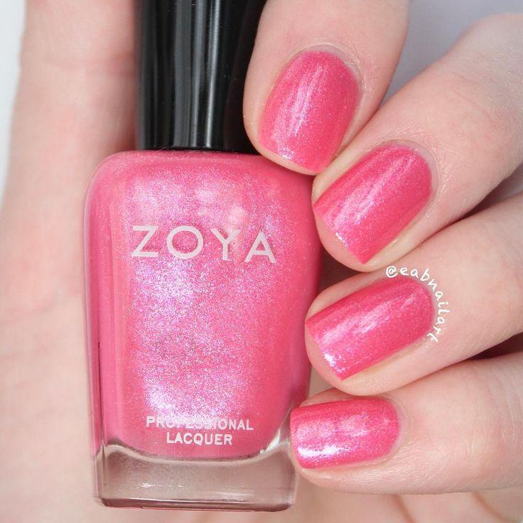 Zoya Nail Polish in Azalea via @eabnailart